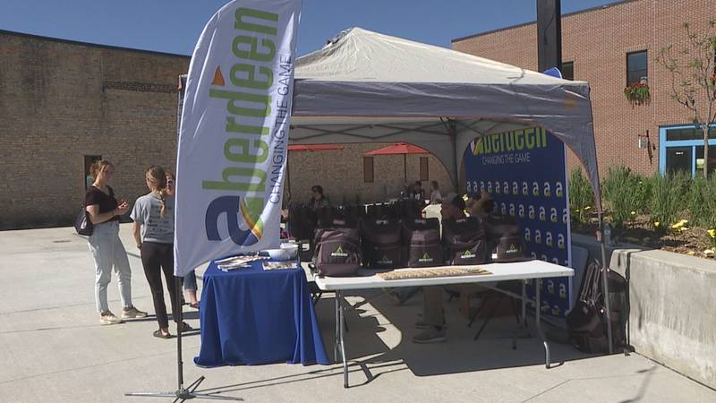 Even with the hot weather Friday, a number of people made it out to Malchow Plaza in Aberdeen...