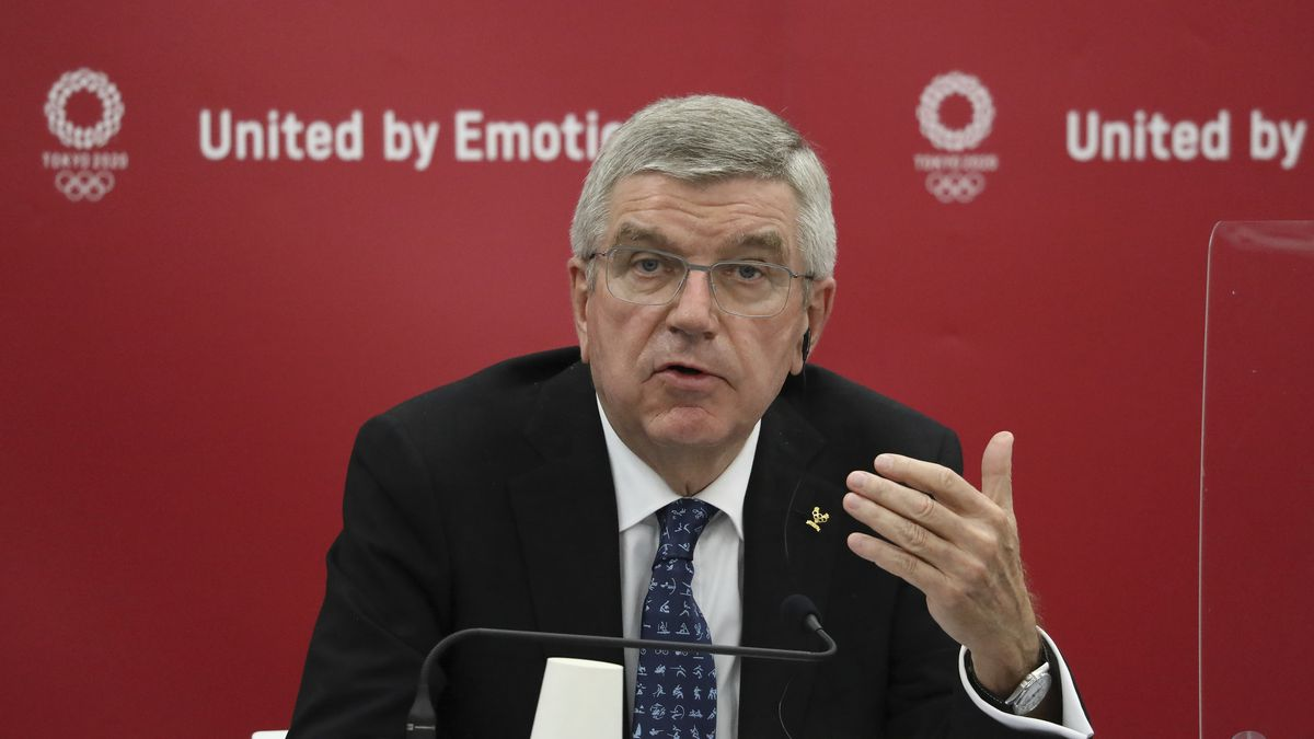 In this Nov. 16, 2020, file photo, ThomasBach, International Olympic Committee (IOC)...