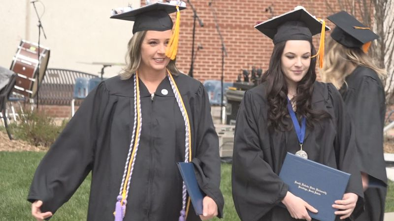 Mother and Daughter share a graduation day on Mother's Day