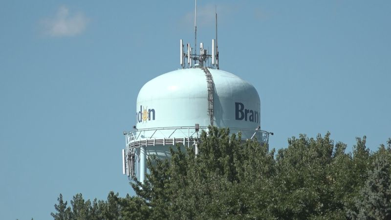 Water tower in Brandon, SD.