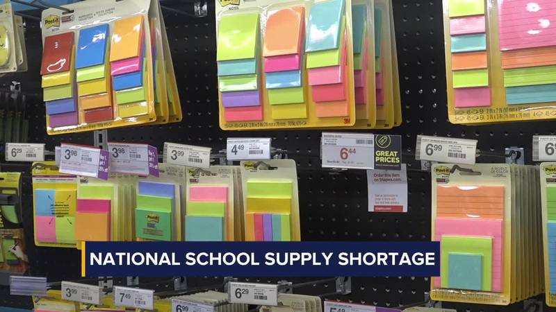 National school supply shortage could impact back-to-school shoppers