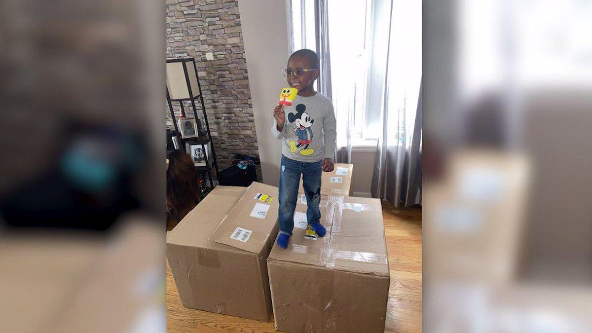 Noah Ruiz, 4, ordered 51 cases of SpongeBob popsicles that cost just under $2,619 using his...