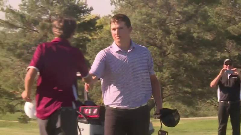 """Watertown's Jake Olson goes wire to wire at State """"AA"""" golf tournament"""