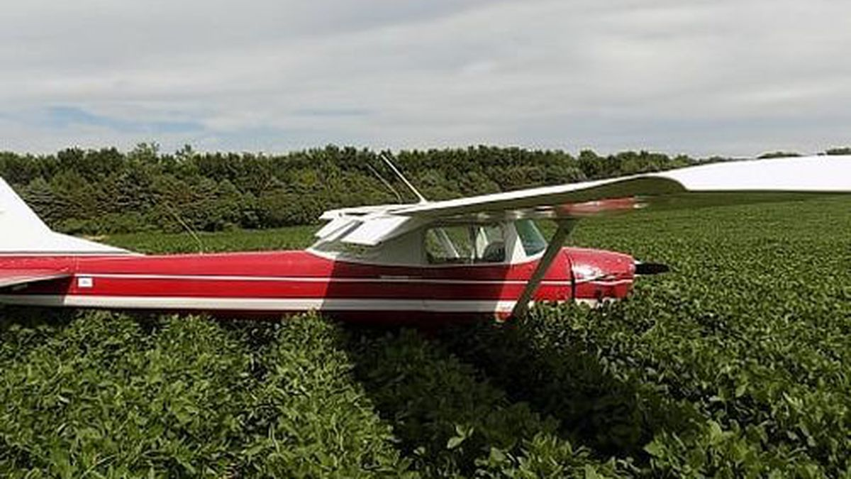The pilot successfully made an emergency landing in a field near Castlewood. (Courtesy Dakota Group)
