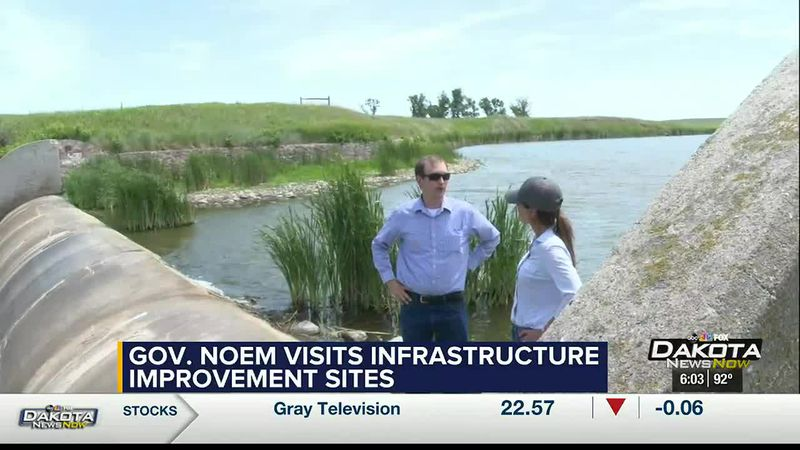 Governor Kristi Noem signed into law a number of bills intended to improve infrastructure...
