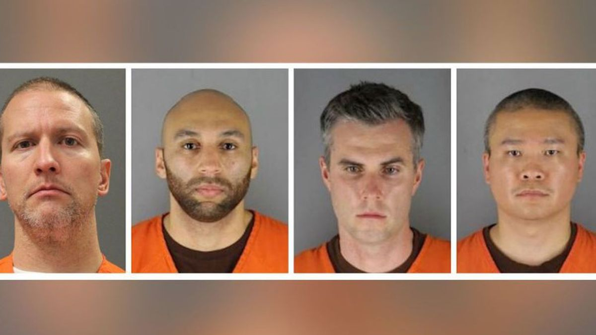 This combination of photos shows Derek Chauvin, from left, J. Alexander Kueng, Thomas Lane and Tou Thao. Chauvin is charged with second-degree murder. Kueng, Lane and Thao have been charged with aiding and abetting Chauvin. (Source: Hennepin County Sheriff's Office/Minnesota Department of Corrections/CNN)