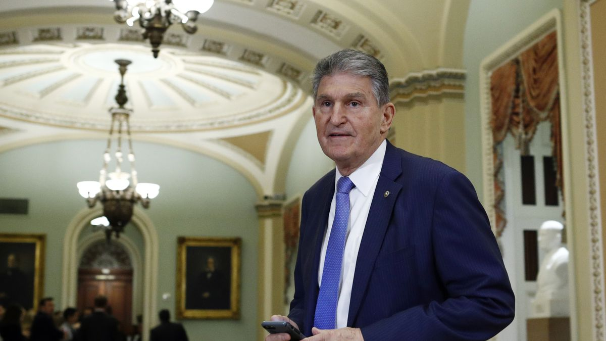In this Wednesday Jan 29, 2020 file photo, Sen. Joe Manchin, D-W.Va., walks to the Senate chamber after a break in the impeachment trial of President Donald Trump at the U.S. Capitol in Washington. The U.S. Postal Service is considering closing post offices across the country, sparking worries ahead the anticipated surge of mail-in ballots in the 2020 elections, U.S. Sen Joe Manchin and a union leader said Wednesday, July 29, 2020.