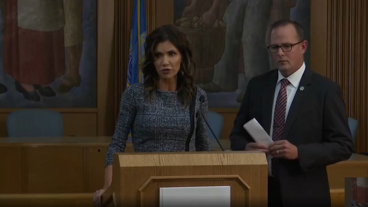 Tuesday, a Gov. Kristi Noem and Secretary Craig Price updated South Dakota about the...