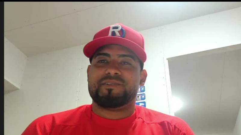 Canaries' Catcher In Tokyo with Dominican National Team
