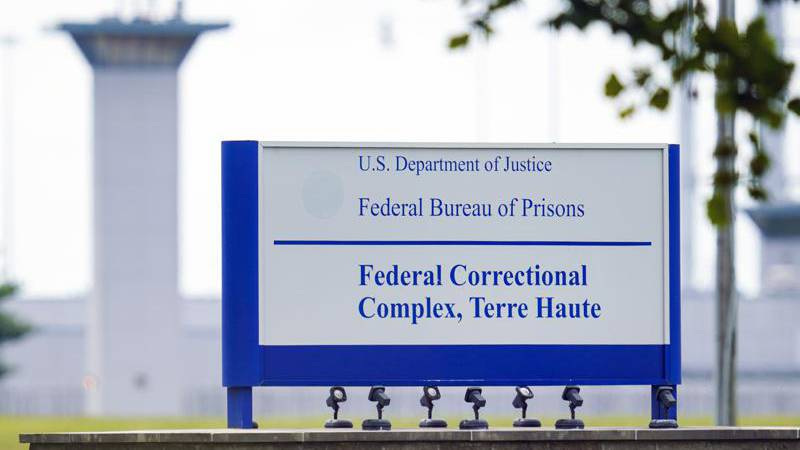 FILE - This Aug. 28, 2020, file photo shows the federal prison complex in Terre Haute, Ind. A...
