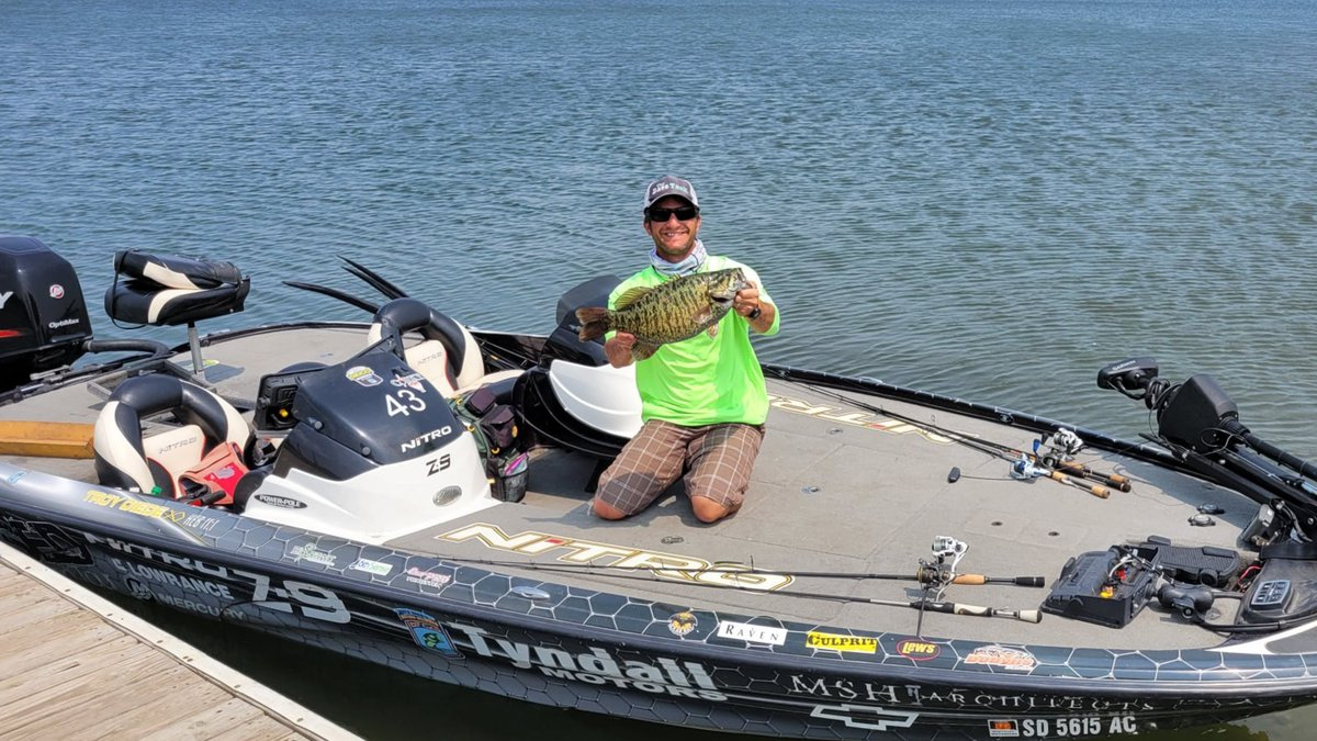 Troy Diede broke a state record on Lake Oahe on Friday. (Courtesy: South Dakota Game, Fish and...