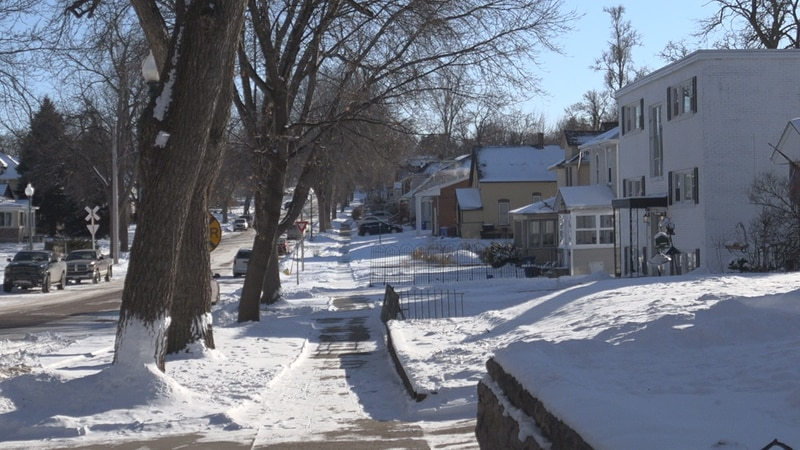 Snow covered Sioux Falls Homes