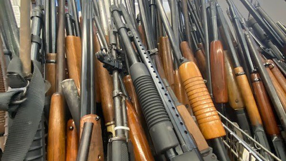 The city of Flint destroyed 384 guns rather than auction them.