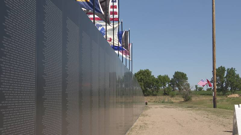 The American Veterans Traveling Tribute Vietnam Wall, an 80 percent scale replica of the...