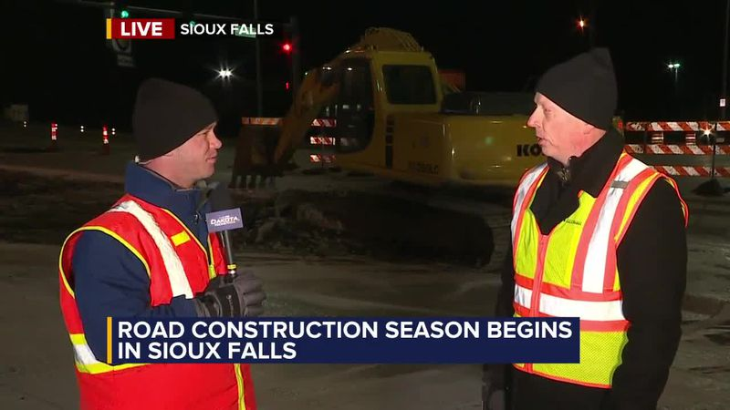 Several major road construction projects are now underway in Sioux Falls