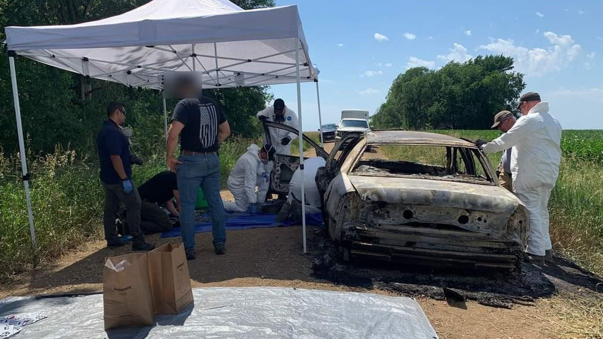 South Dakota DCI agents respond to a vehicle fire and death investigation in rural Clay County...