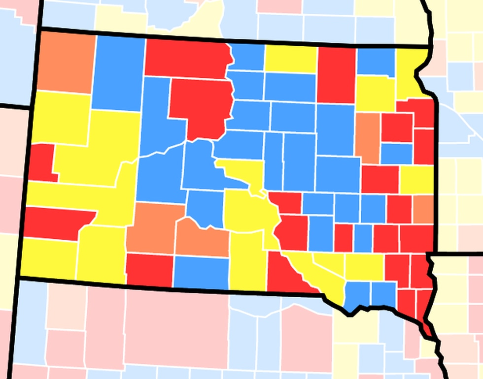 The CDC is recommending that everyone in counties with high and substantial (red and orange...