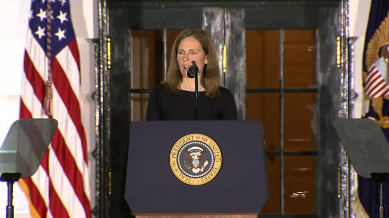 Amy Coney Barrett sworn in as Supreme Court justice.