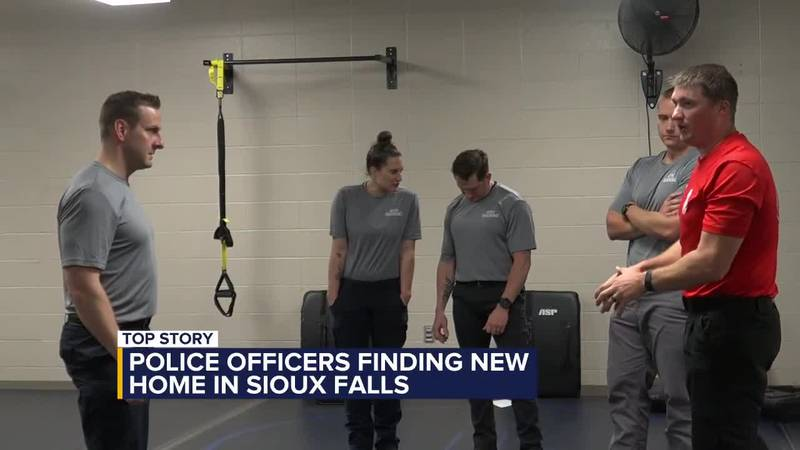 Police officers find new homes in Sioux Falls
