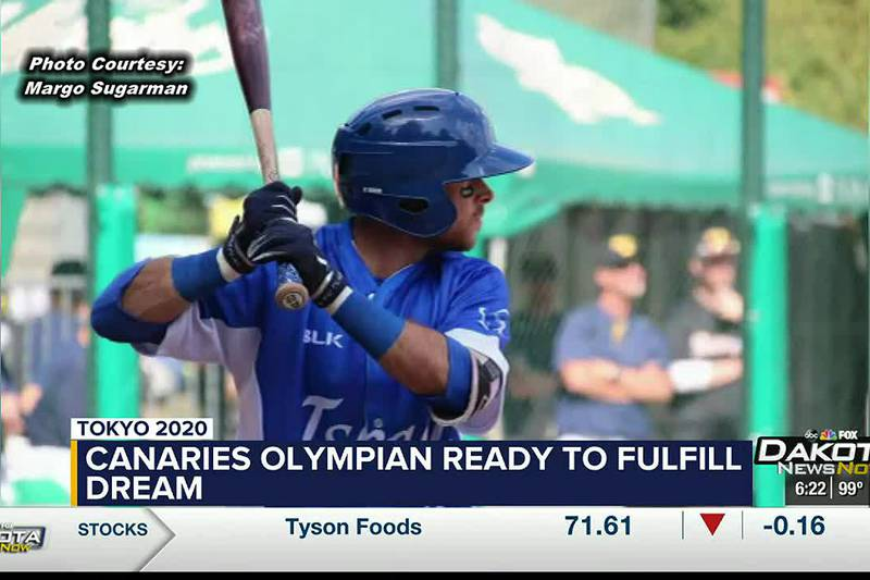 Batting for Israeli national baseball team