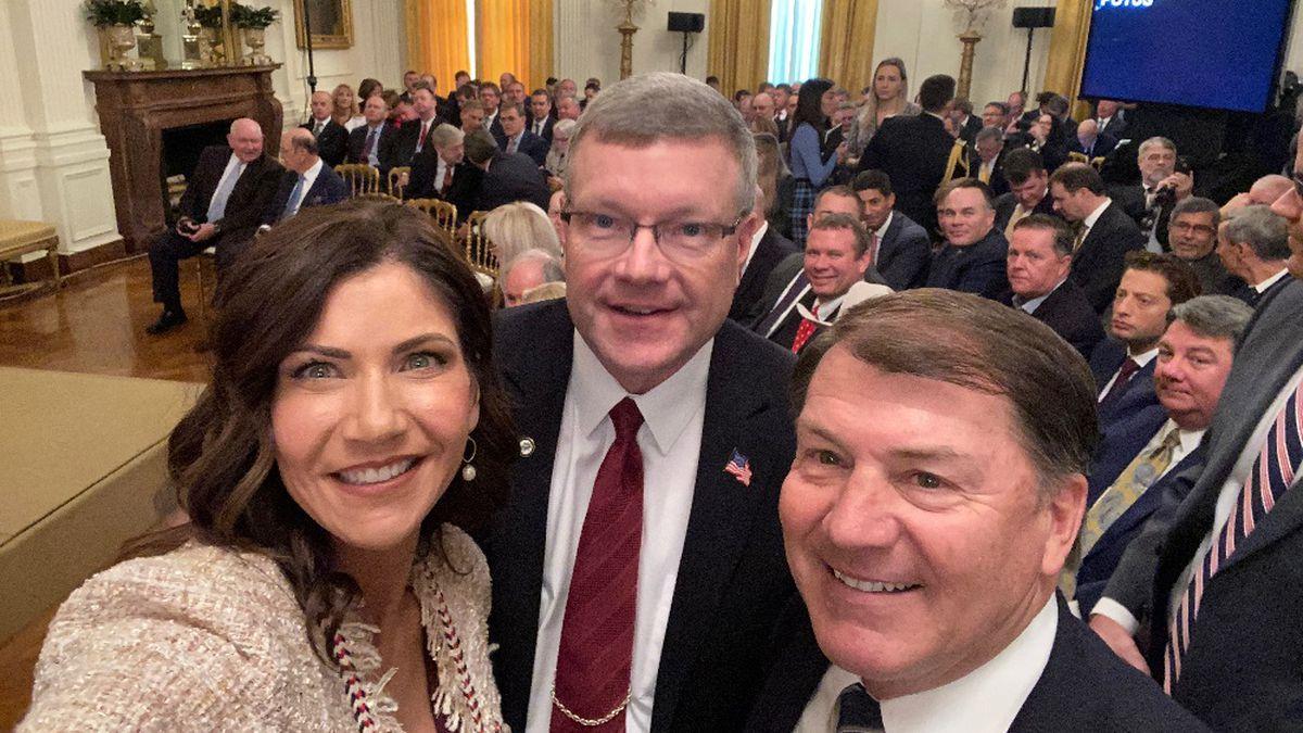 Gov. Noem, Sen. Rounds, and SD Farm Bureau President Scott VanderWal (submitted photo)