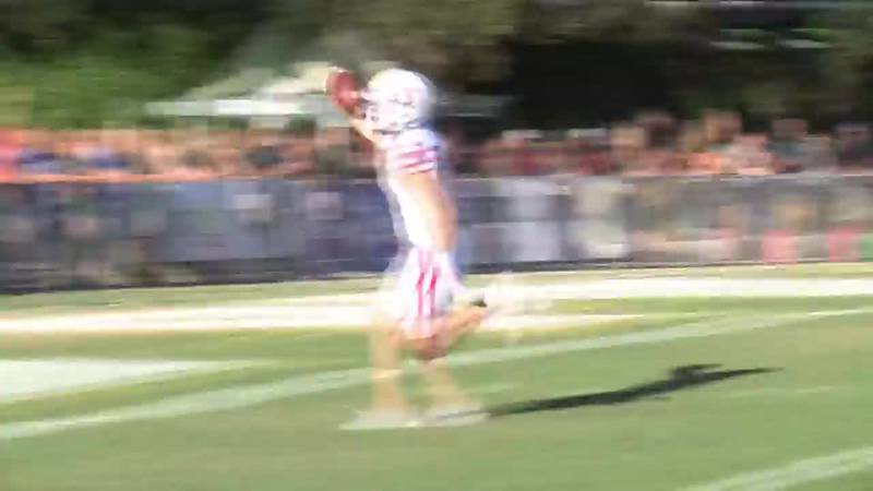 Finishes 54-yard touchdown in 48-14 win at Cal Poly