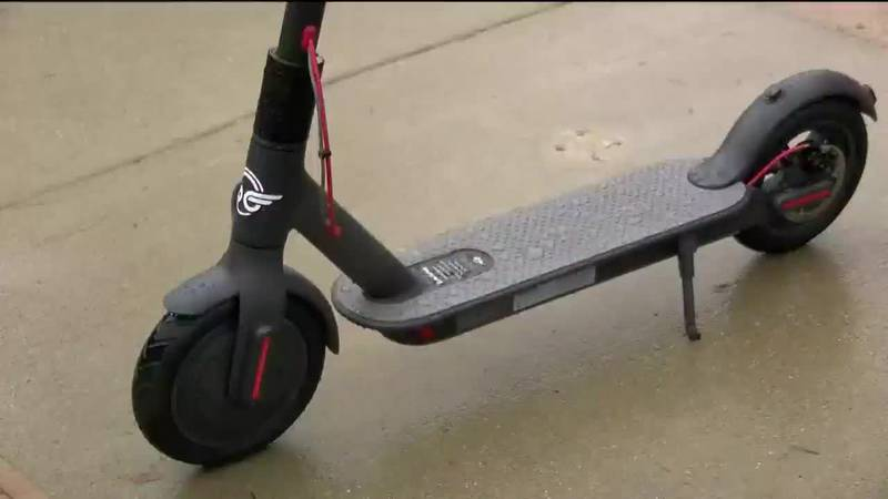Downtown electric scooters