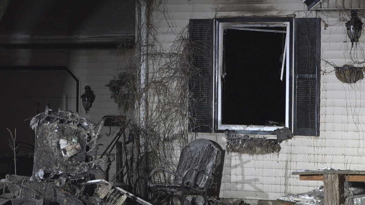 A Sioux Falls home is heavily damaged after a fire broke out Tuesday.