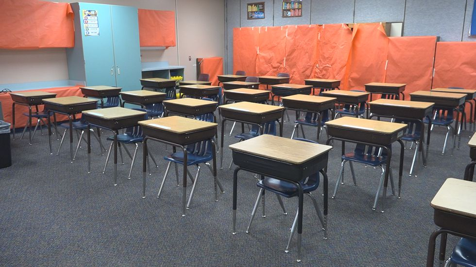 Example of what classrooms will look like at John Harris Elementary School for fall of 2020.