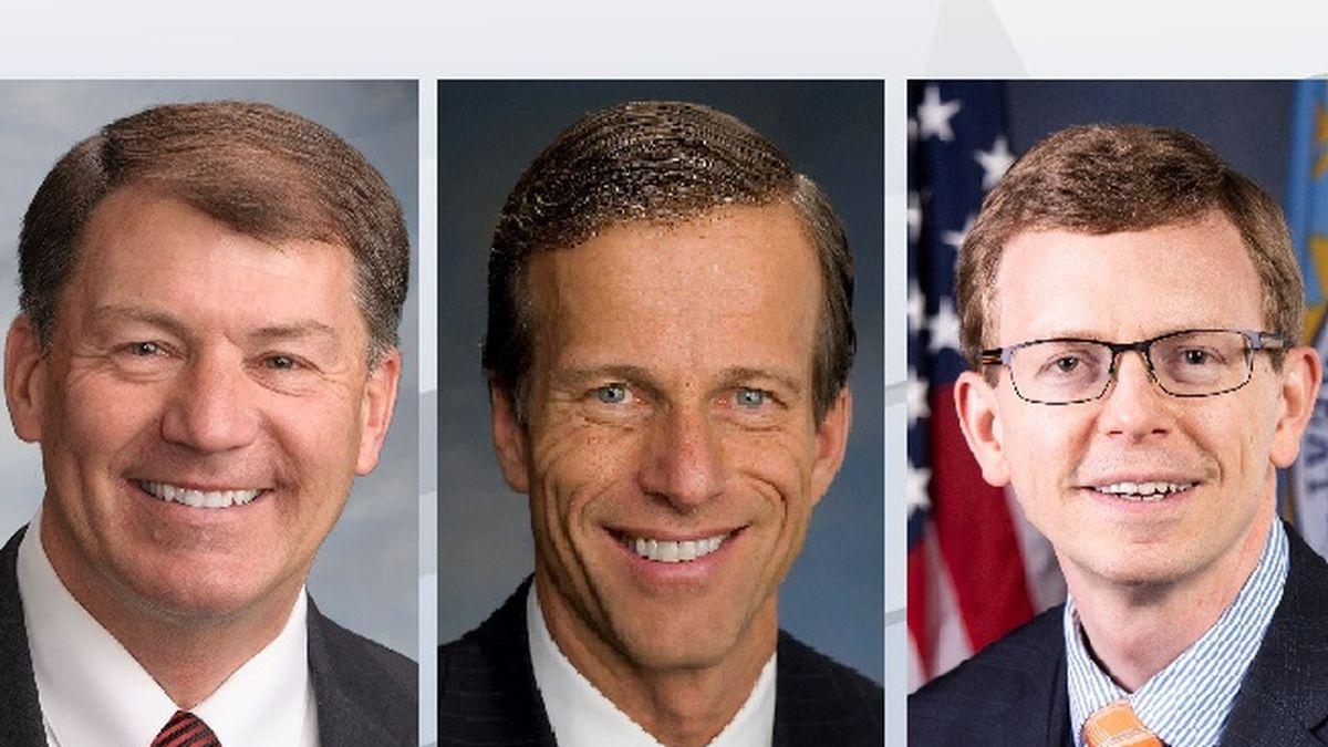 Sen. Mike Rounds (R, S.D.), Sen. John Thune (R, S.D.), Rep. Dusty Johnson (R, S.D.)