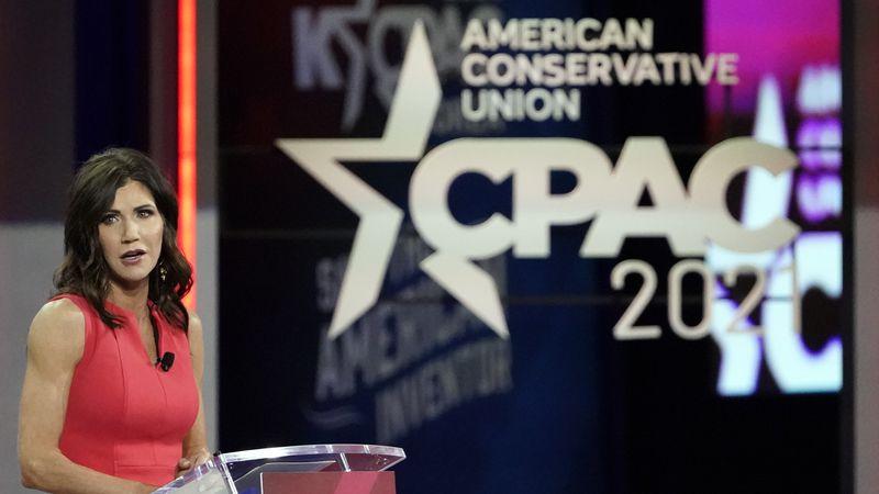 South Dakota Gov. Kristi Noem speaks at the Conservative Political Action Conference (CPAC)...