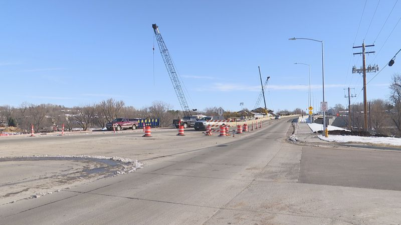 Crews continue to work on the large construction project at 26th Street and Southeastern Avenue...