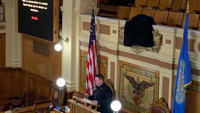 "The South Dakota House continues with the tradition of ""covering the clock"" on crossover day,..."