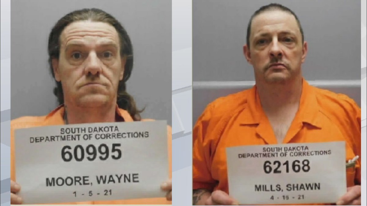 The South Dakota Department of Corrections reports Ronnie Moore and Shawn Mills walked away...