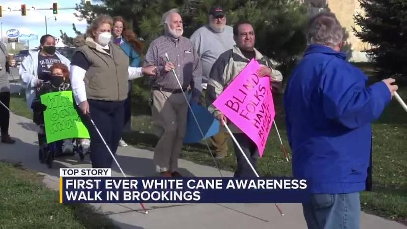 Brookings white cane walk
