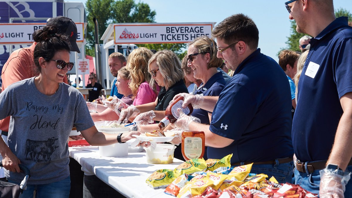 Volunteers serve lunch at Ag Appreciation Day at the Sioux Empire Fair in 2019. (photo courtesy...