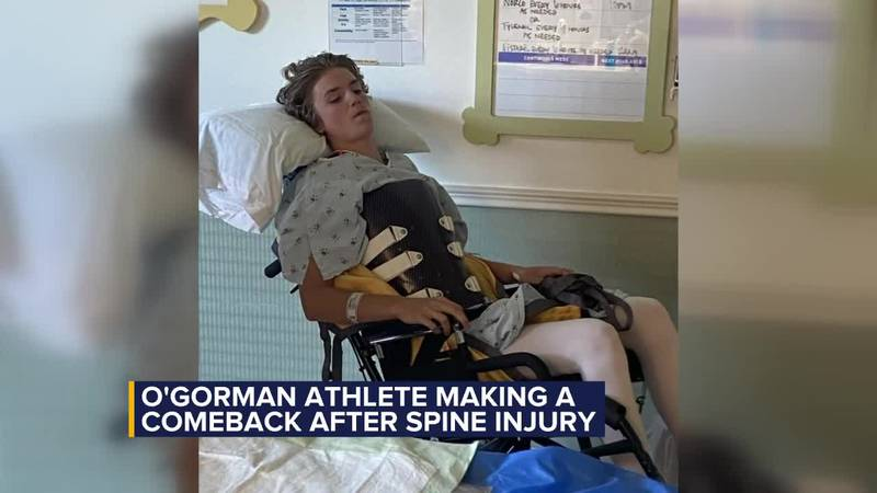 O'Gorman athlete making a comeback after car accident paralyzes him
