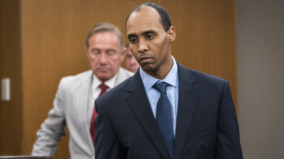 FILE - In this Friday, June 7, 2019, file photo, former Minneapolis police officer Mohamed Noor...