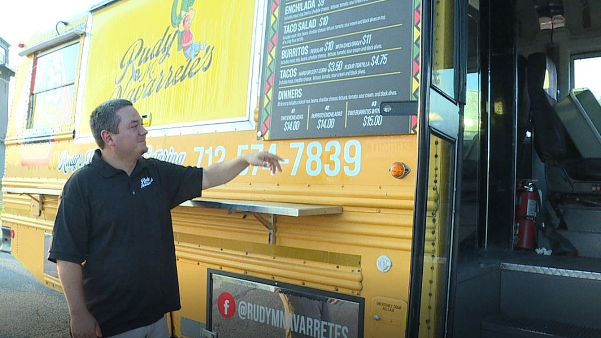 Rudy Navarrete's Taco Bus serves up Tex-Mex in the Sioux Empire.
