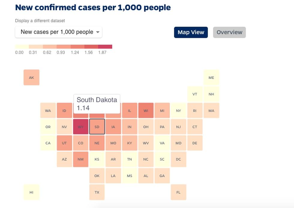Map is from 11/18 Source: Johns Hopkins Coronavirus Resource Center