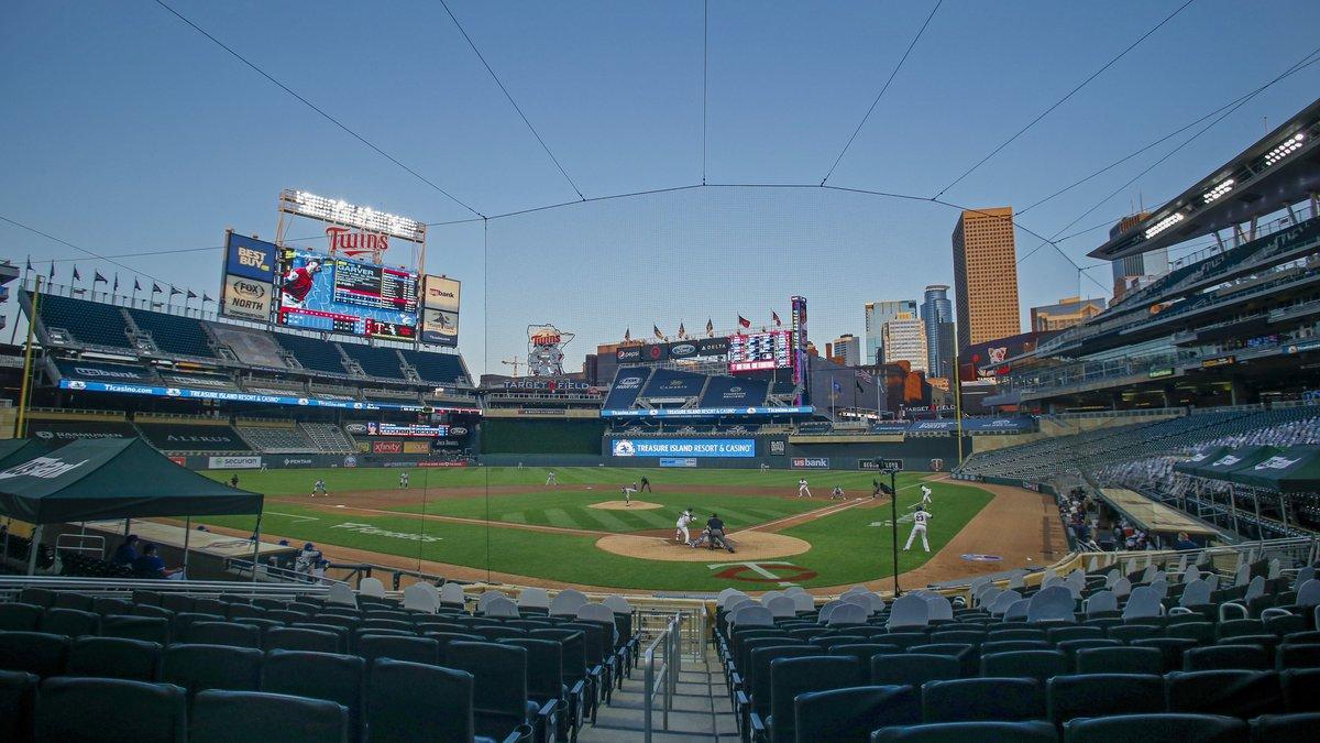 The Kansas City Royals play the Minnesota Twins at Target Field at a baseball game Monday, Aug....