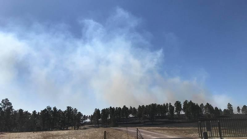 Schroeder Fire aftermath on West Camp Rapid.
