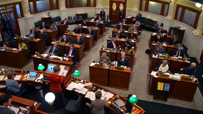 The South Dakota Senate Chamber in Pierre. (KOTA TV)