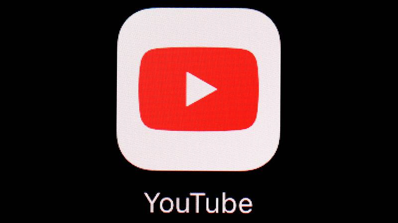 FILE - This March 20, 2018, file photo shows the YouTube app on an iPad in Baltimore.
