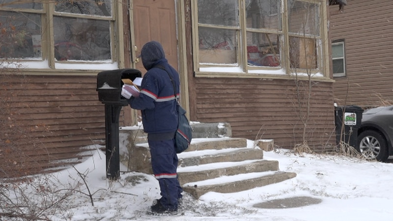 During winter storms, the snow can really pile up. So There's something the U.S. postal service...