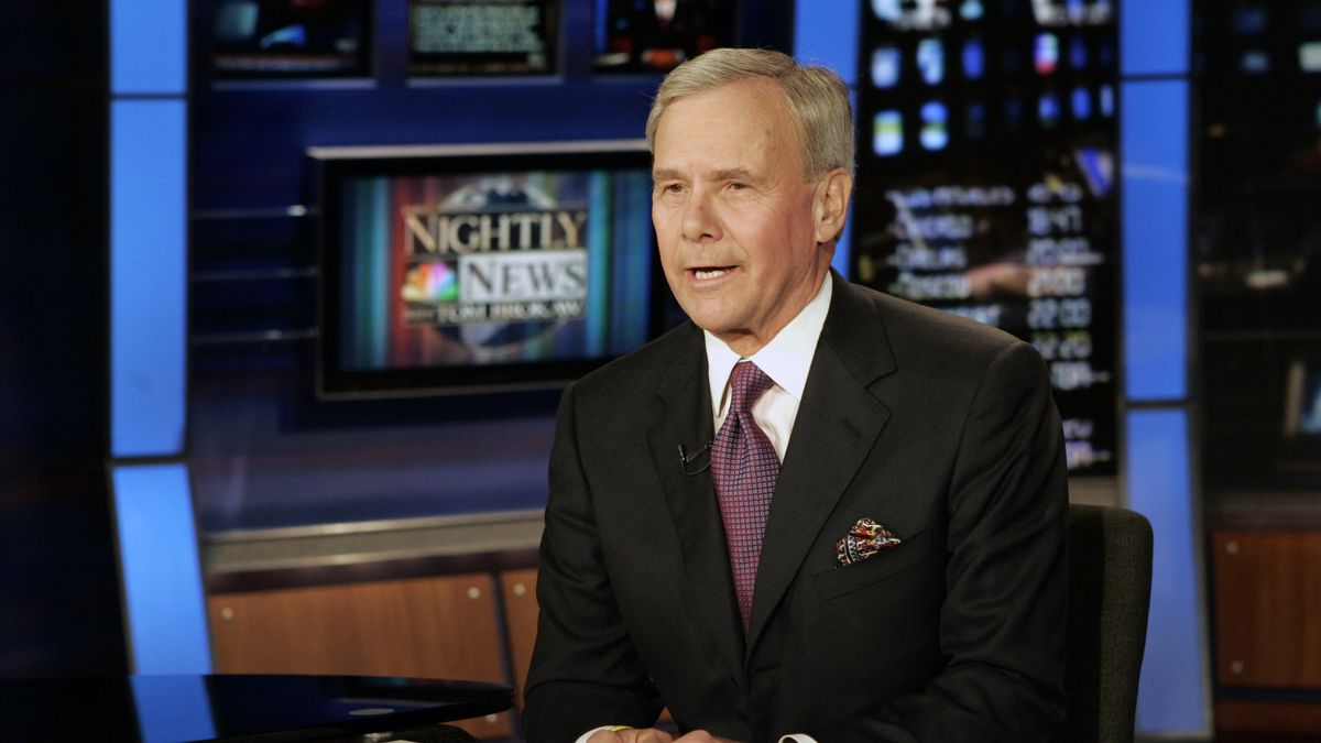 """FILE - """"NBC Nightly News"""" anchor Tom Brokaw delivers his closing remarks during his final..."""