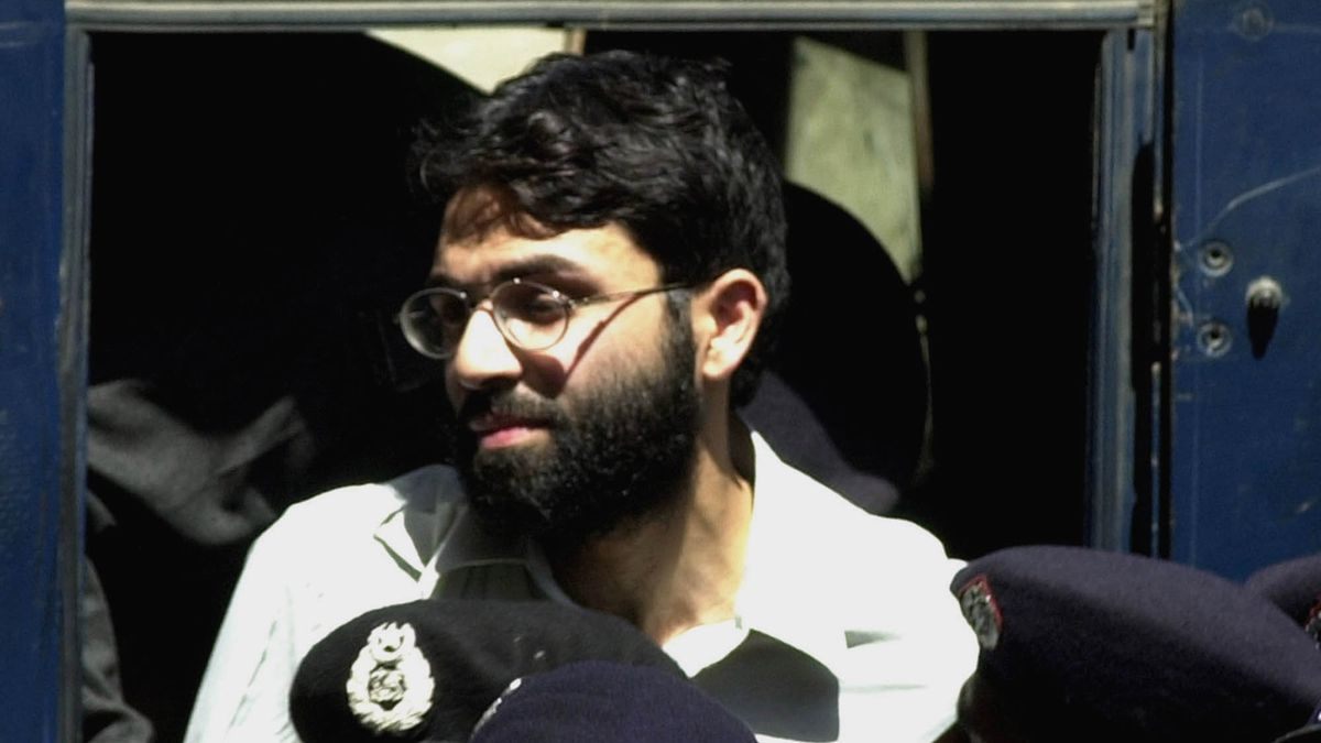 FILE - In this March 29, 2002 file photo, Ahmed Omar Saeed Sheikh, the alleged mastermind behind the Wall Street Journal reporter Daniel Pearl's kidnap-slaying, appears at the court in Karachi, Pakistan.