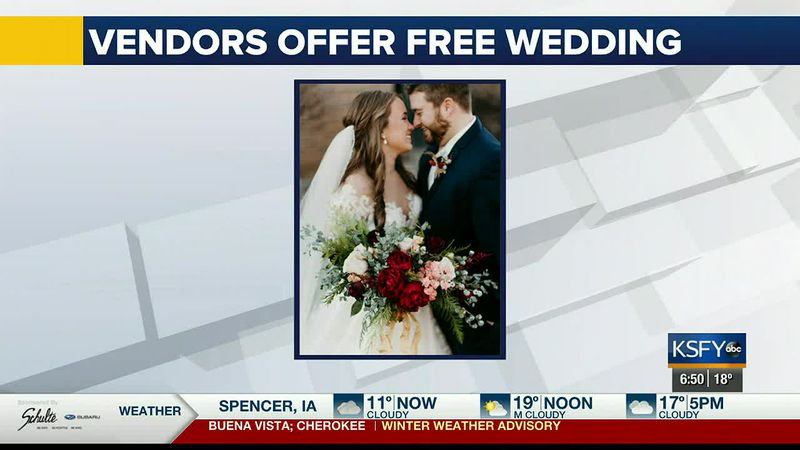 Local vendors come together to offer free wedding