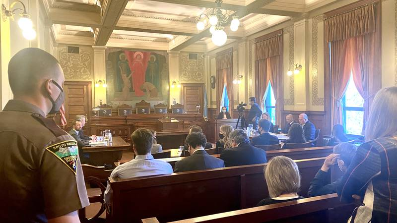 The South Dakota Supreme Court is hearing oral arguments in the case involving a constitutional...