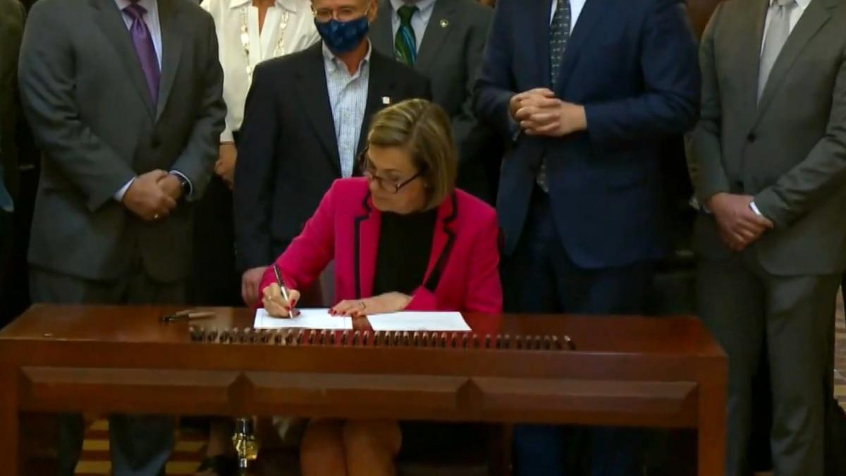 Gov. Reynolds signed new broadband infrastructure legislation into law on Wednesday in Des...